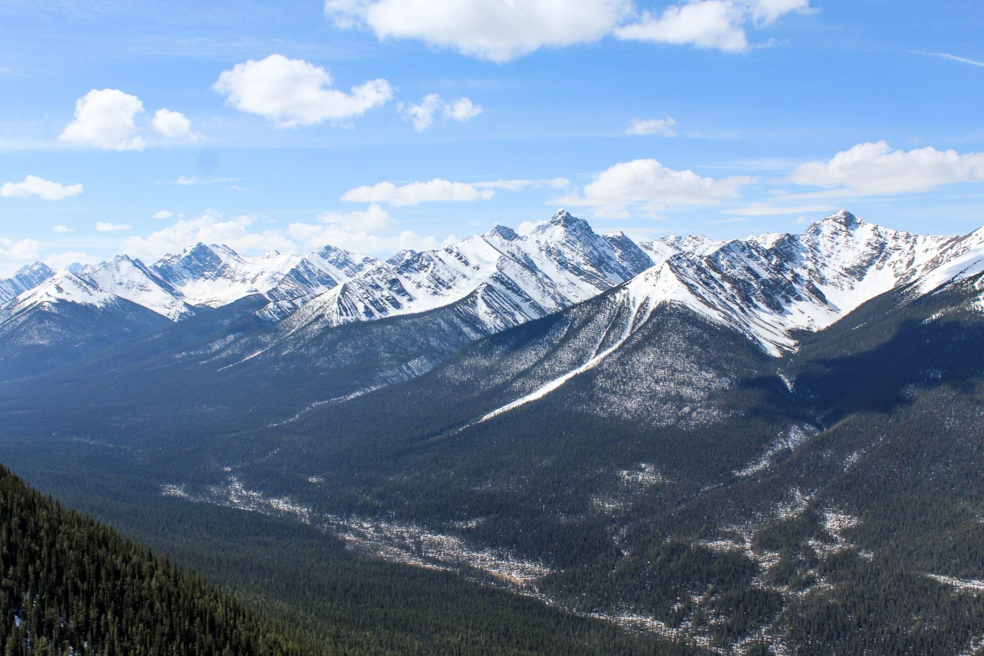 Banff National Park from the gondola