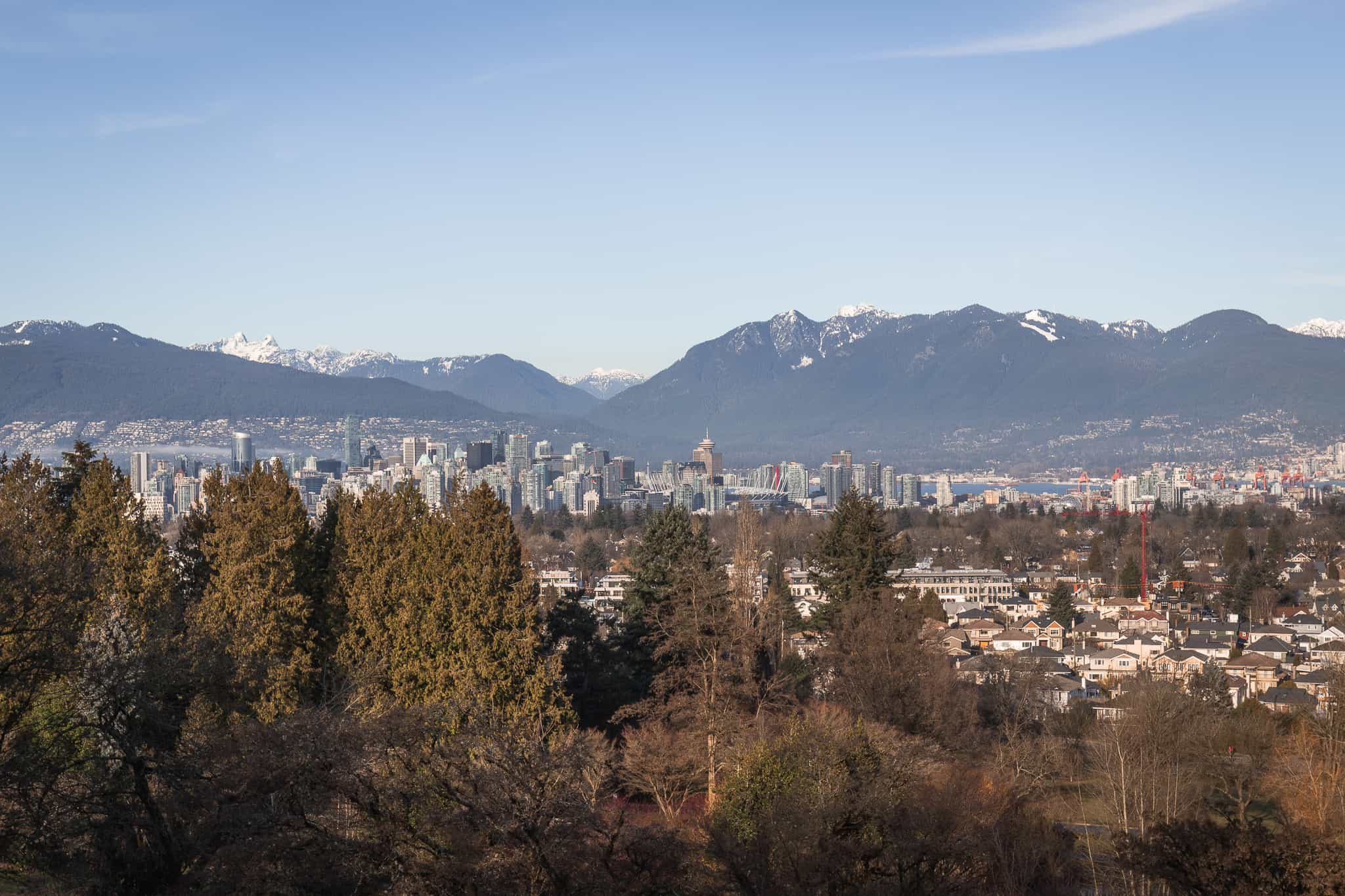 View of Downtown Vancouver from Queen Elizabeth Park