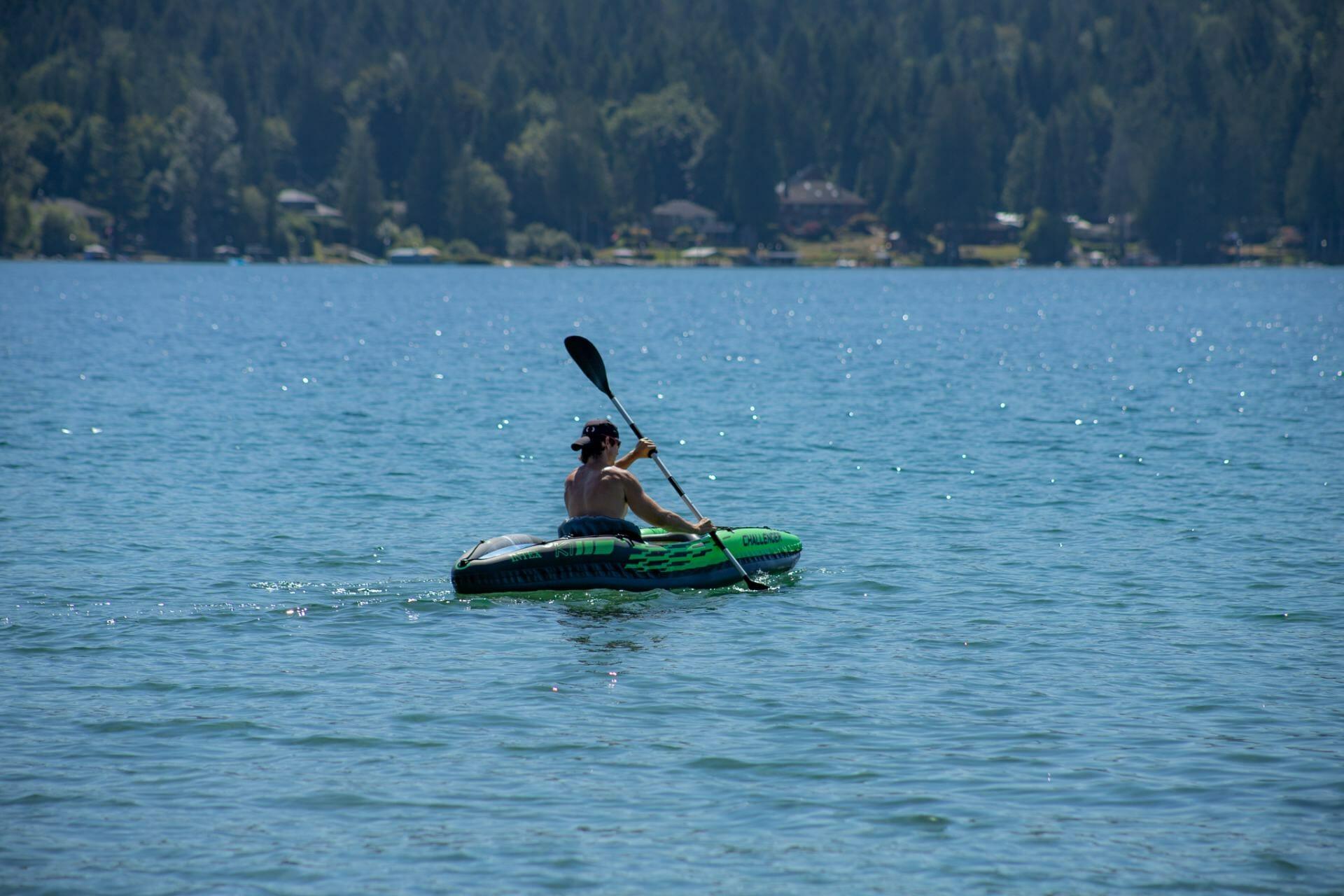 Kayaking at Sproat Lake