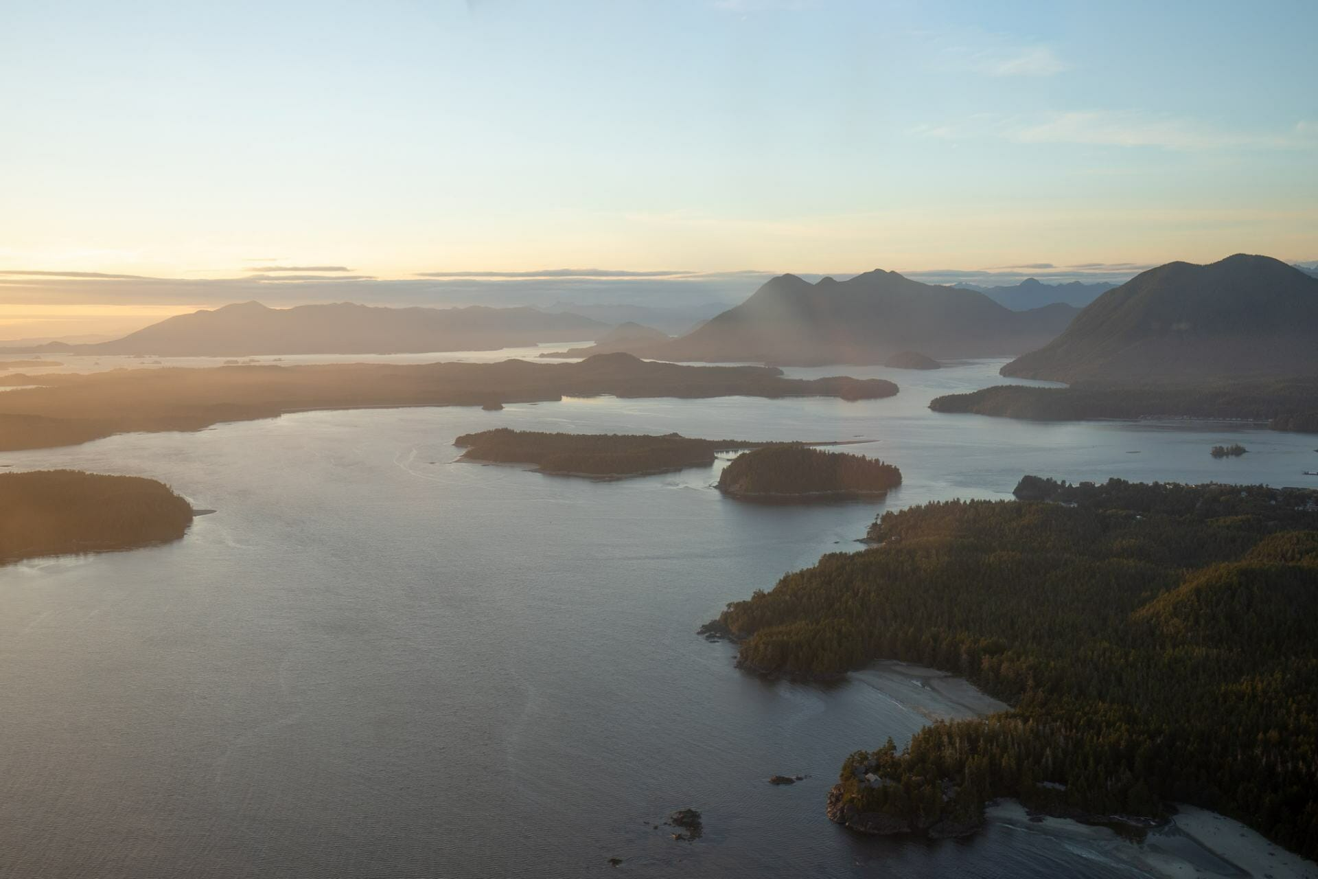 View of Tofino from the air