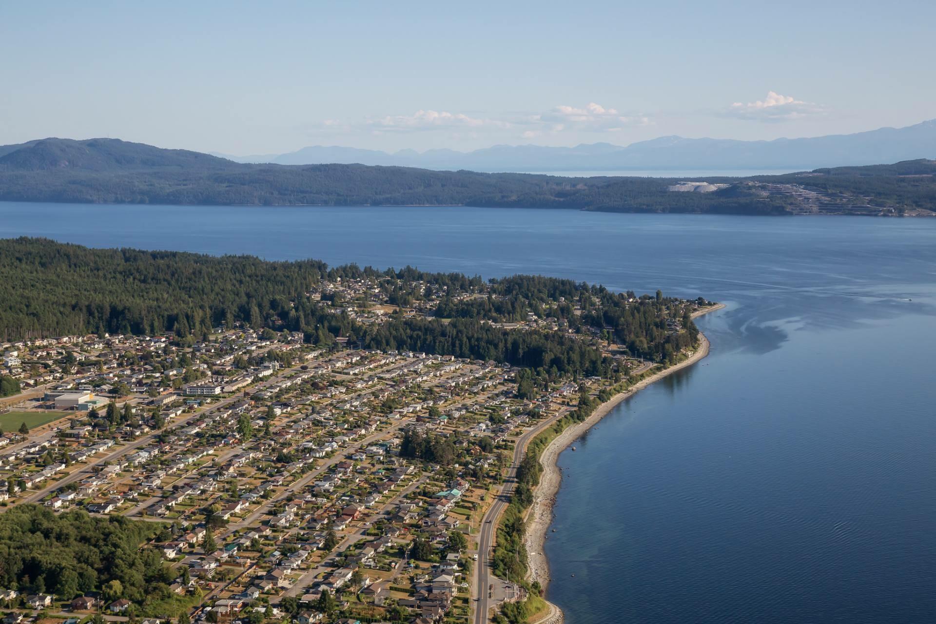 View of Powell River Sunshine Coast