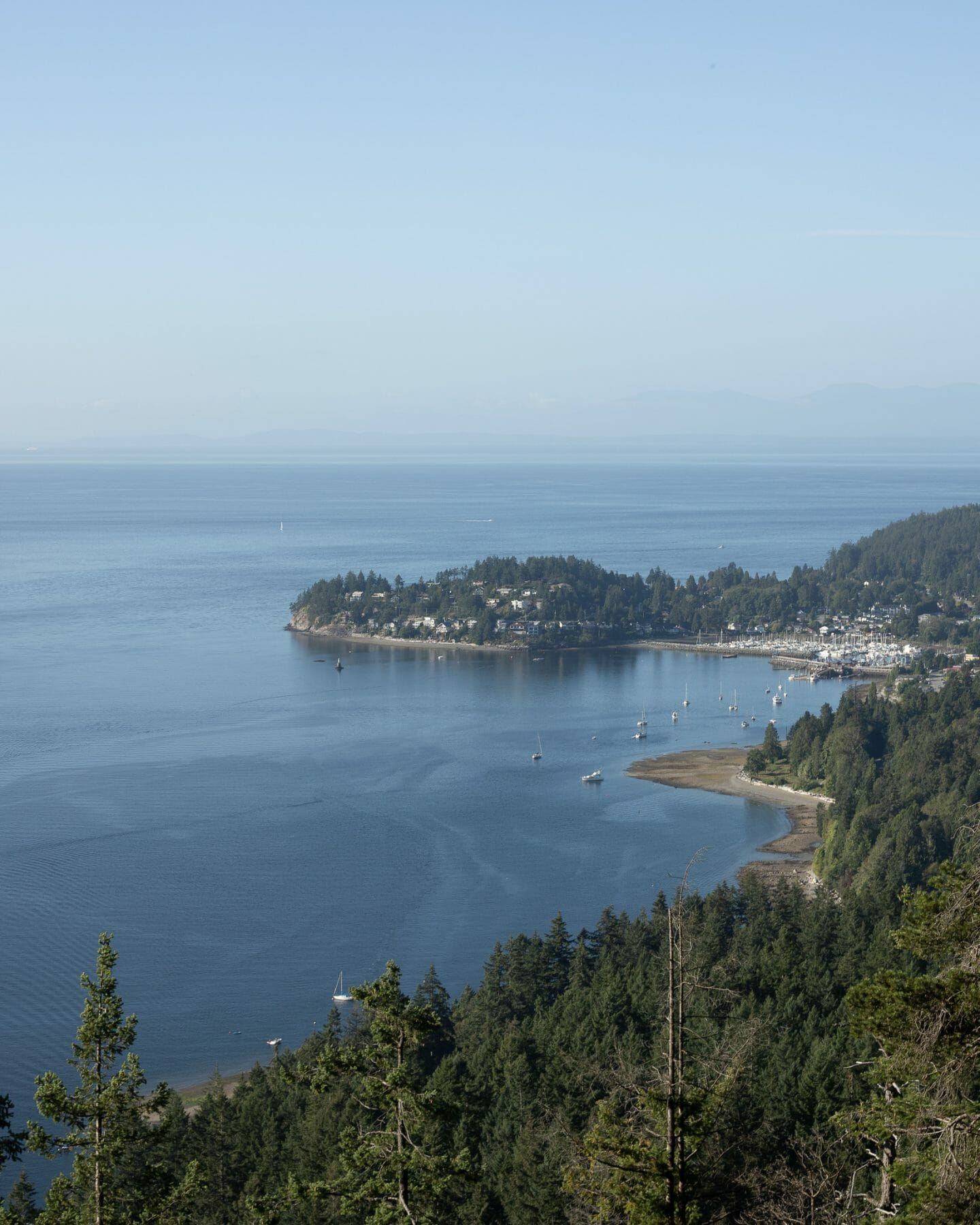 View from Soame Hill in Gibsons