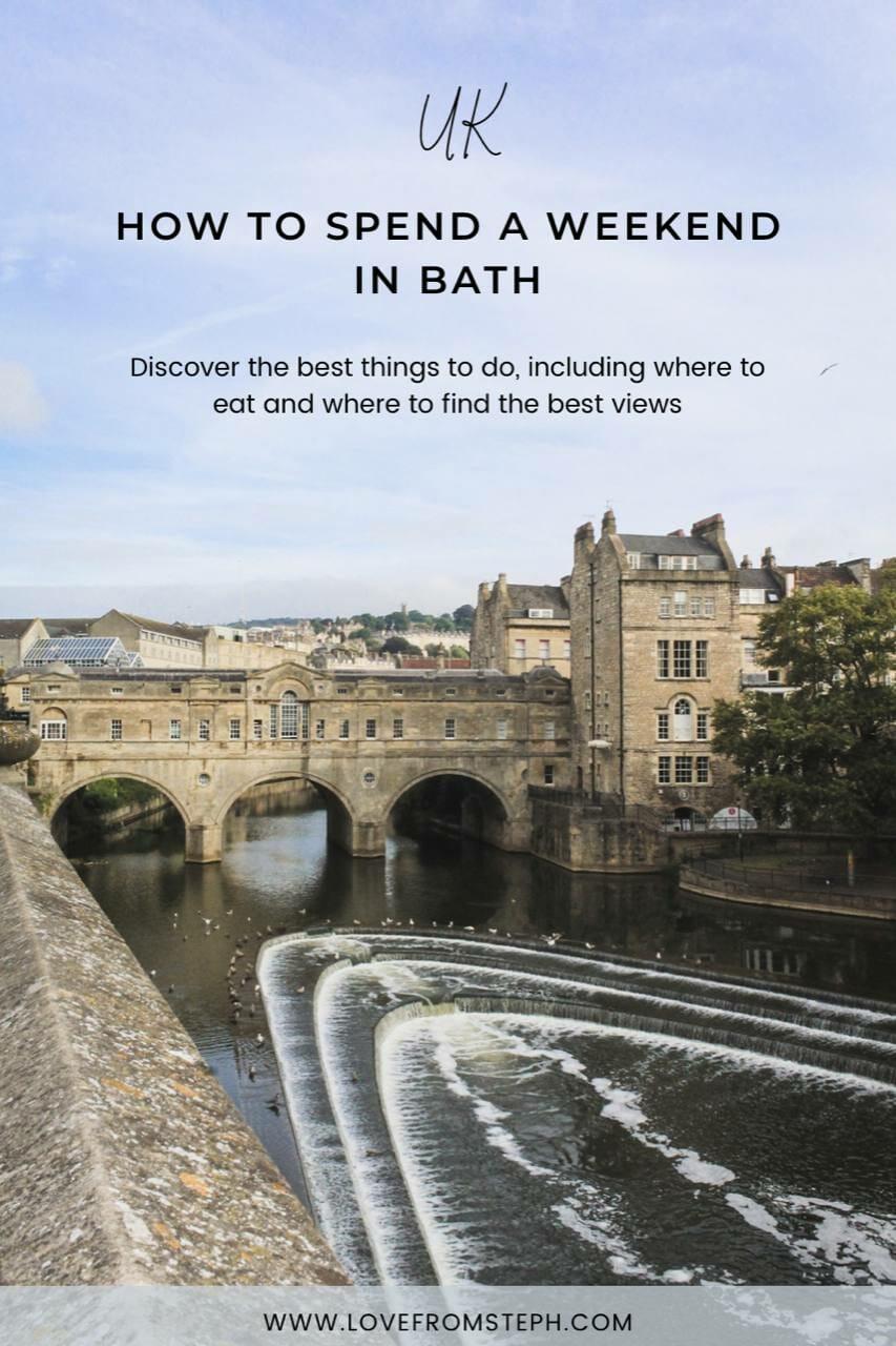 Bath Weekend Itinerary