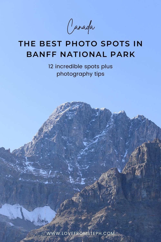 Banff best photo spots Pinterest