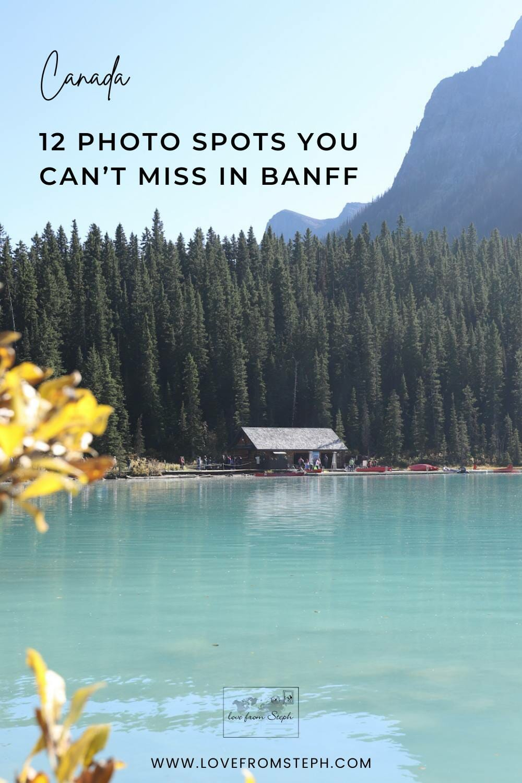 Best photo spots in Banff Pinterest