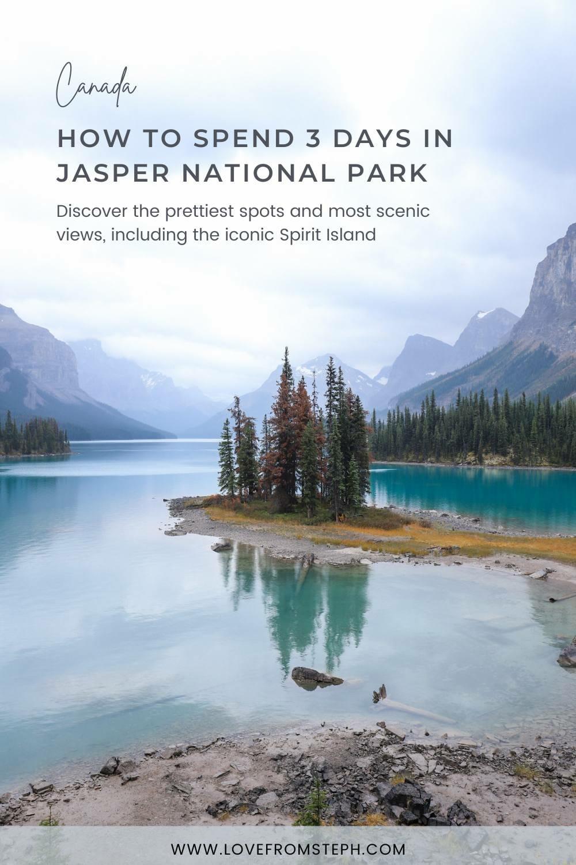 Jasper Itinerary Pinterest