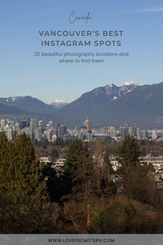 Instagrammable Spots in Vancouver Pinterest